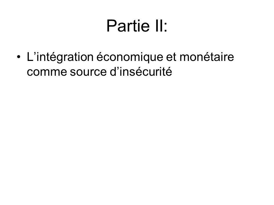 Partie II: Lintégration économique et monétaire comme source dinsécurité