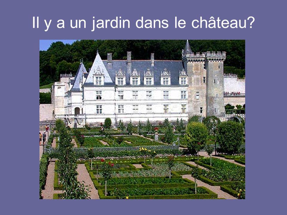 Il y a un jardin dans le château?