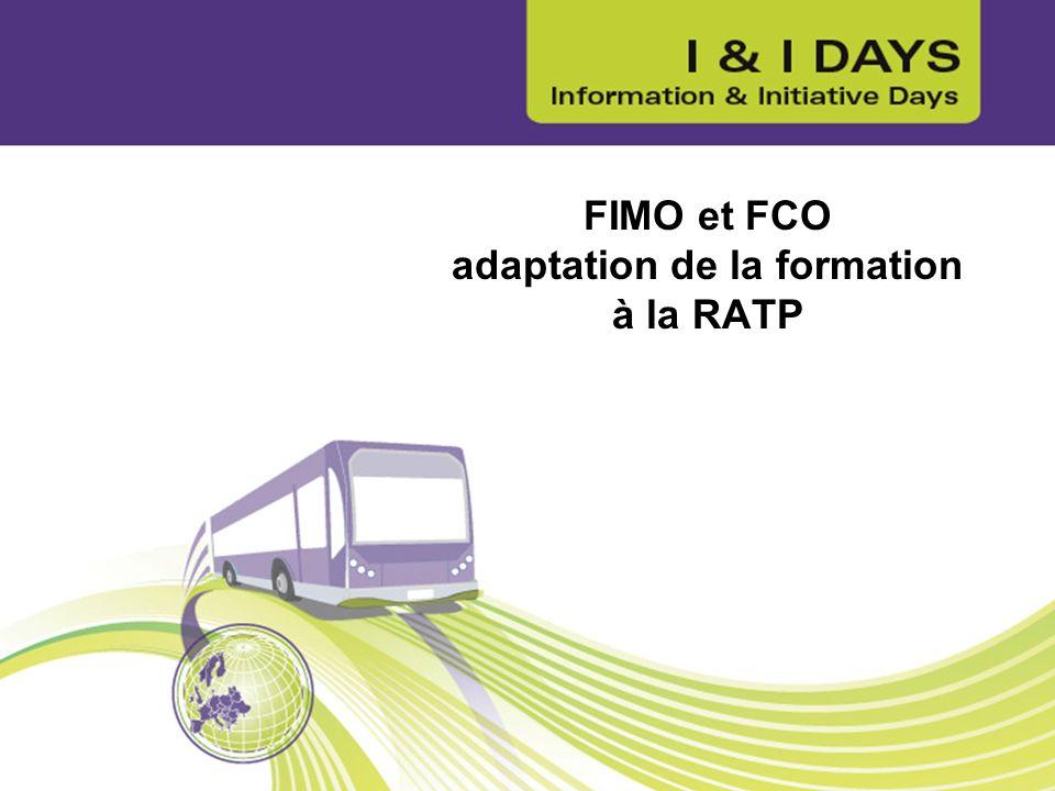 FIMO et FCO adaptation de la formation à la RATP