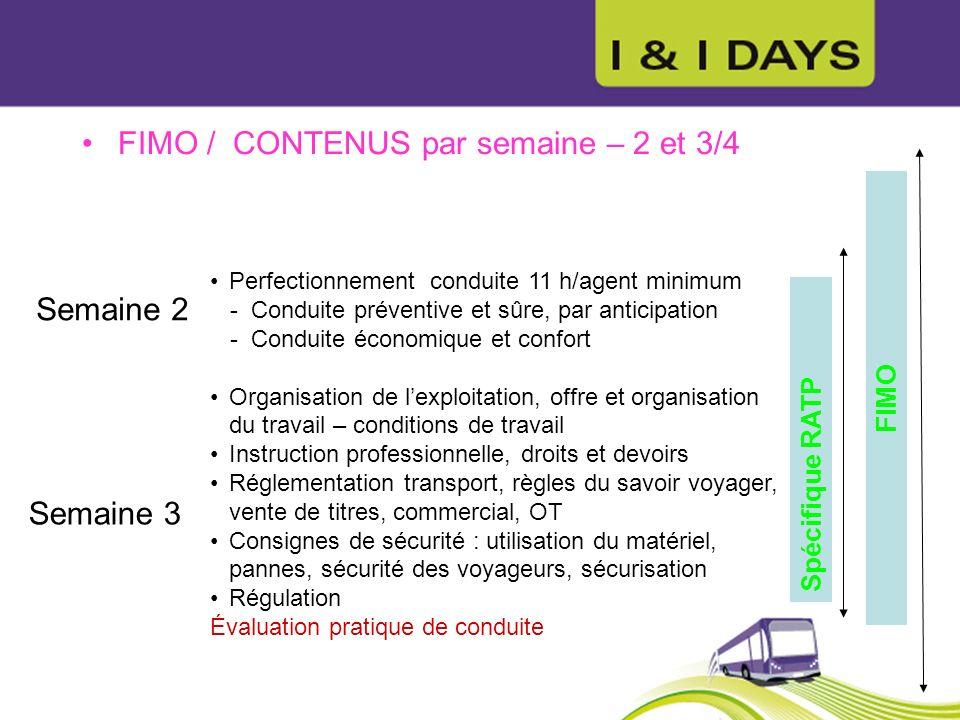 Perfectionnement conduite 11 h/agent minimum - Conduite préventive et sûre, par anticipation - Conduite économique et confort Organisation de lexploit