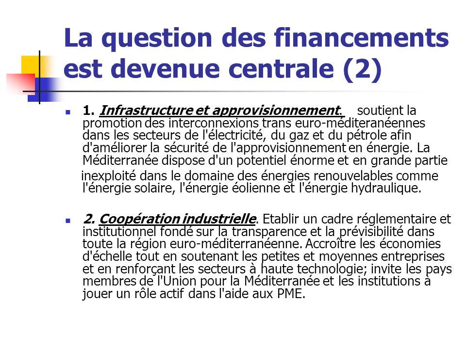 La question des financements est devenue centrale (2) 1.