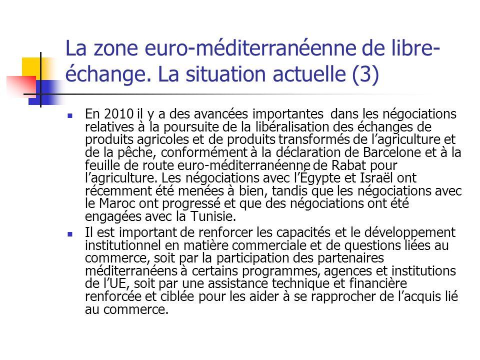 La zone euro-méditerranéenne de libre- échange.