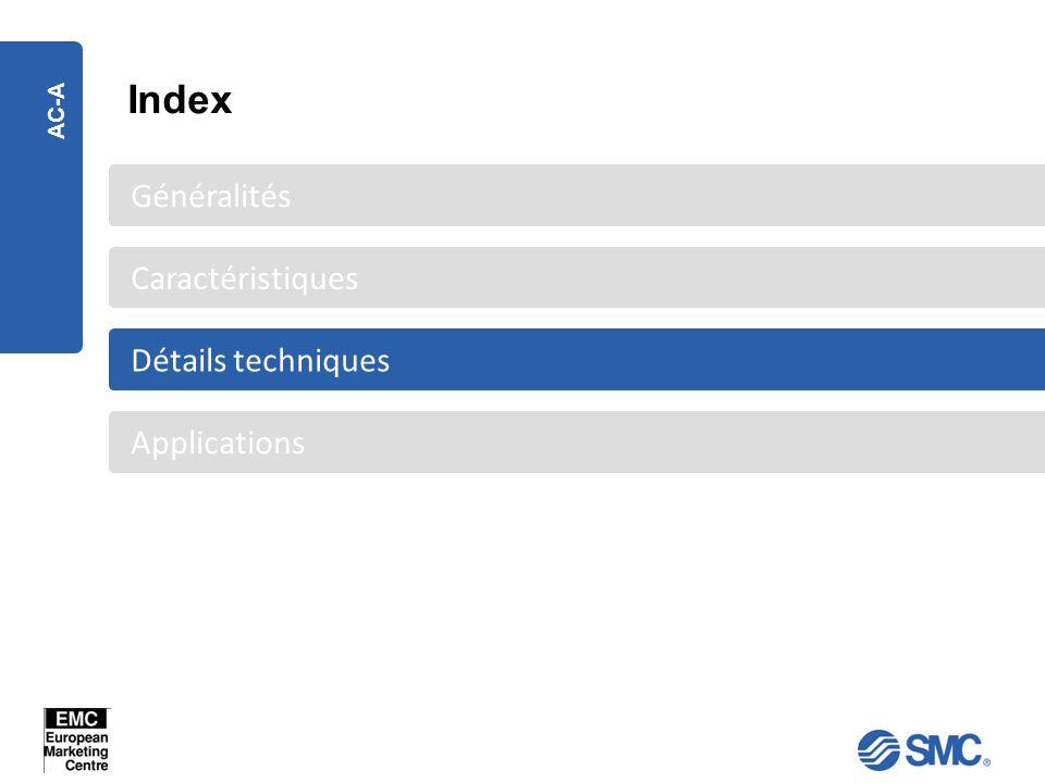 AC-A Applications Détails techniques Caractéristiques Généralités Index