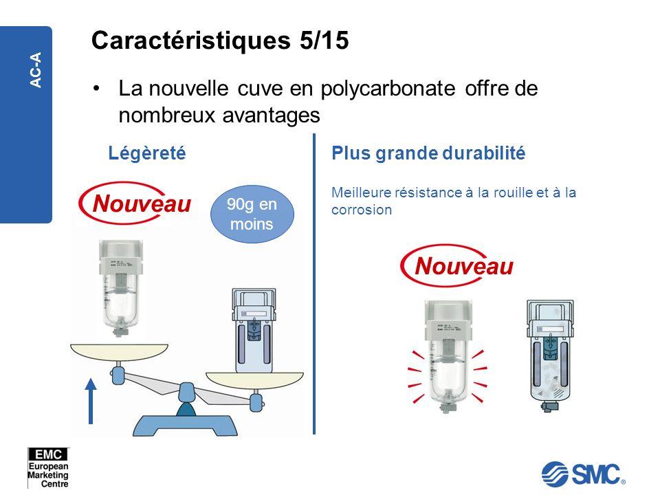AC-A La nouvelle cuve en polycarbonate offre de nombreux avantages Plus grande durabilitéLégèreté Nouveau Meilleure résistance à la rouille et à la co