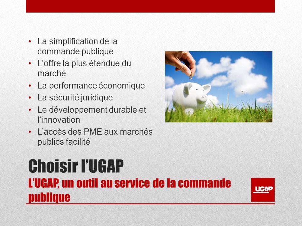 Choisir lUGAP LUGAP, un outil au service de la commande publique La simplification de la commande publique Loffre la plus étendue du marché La perform