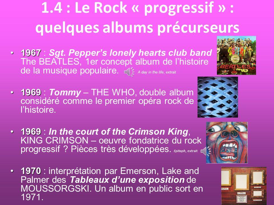 2.1 : Atom Heart Mother : place dans la discographie du groupe Une pièce charnière, qui se démarque du climat psychédélique des albums précédents et ouvre la voie au rock « progressif » des disques suivants.