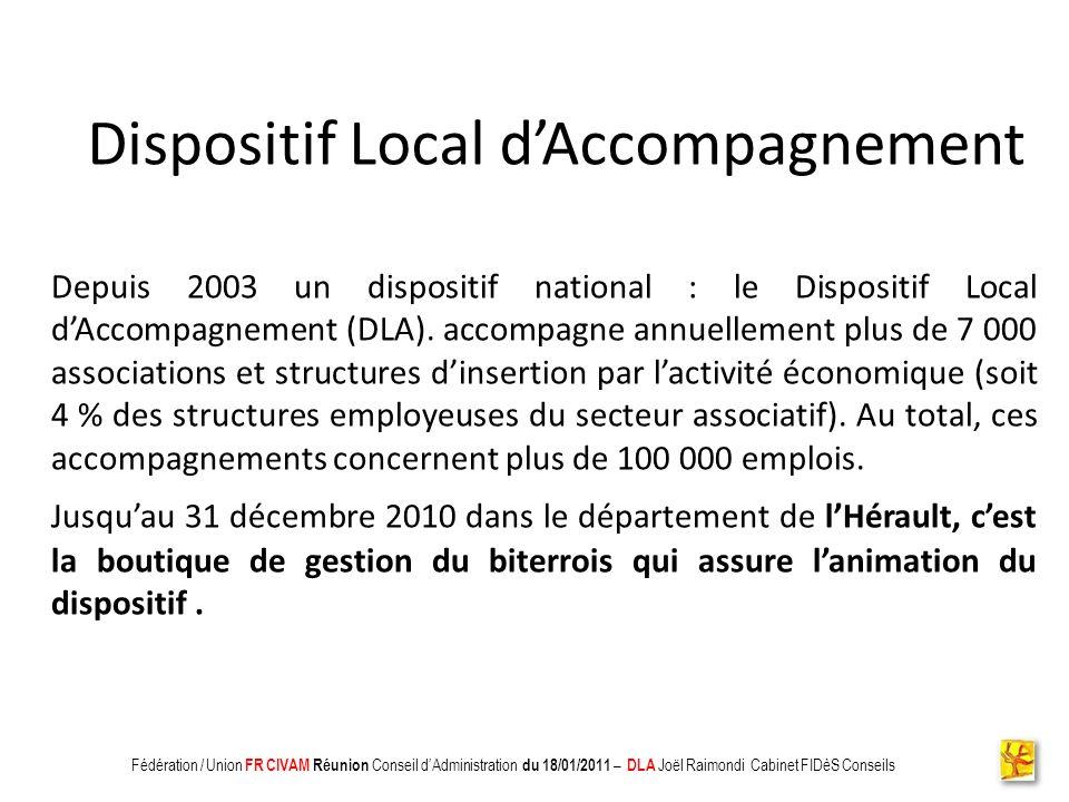 Association CADIFE : Quel Avenir ? - Restitution DLA du 18/05/2010 à Clermont lHérault - Joël Raimondi Cabinet FIDèS CONSEILS et Peter Ulrich Disposit