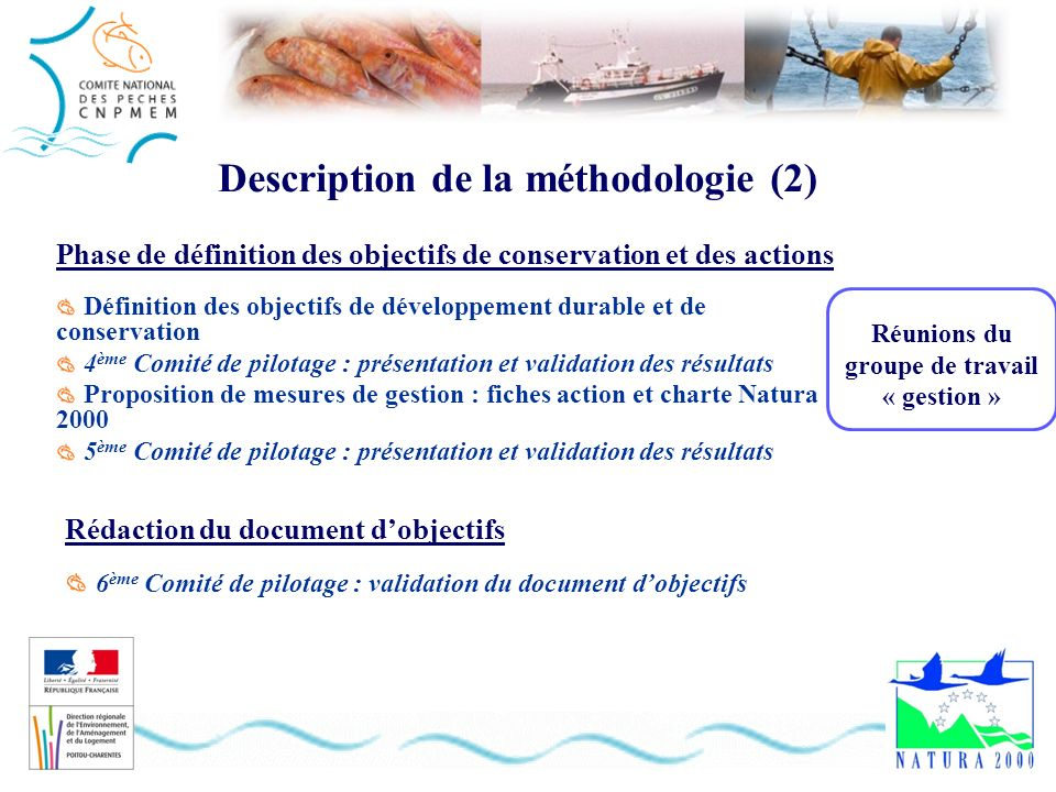 Phase de définition des objectifs de conservation et des actions Définition des objectifs de développement durable et de conservation 4 ème Comité de