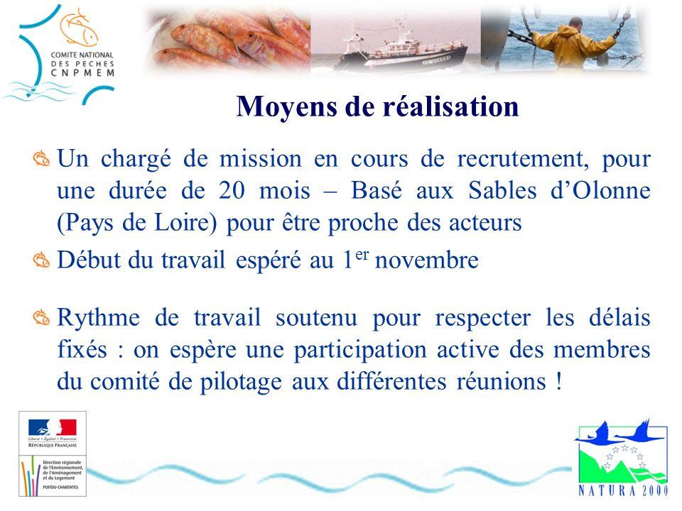 Moyens de réalisation Un chargé de mission en cours de recrutement, pour une durée de 20 mois – Basé aux Sables dOlonne (Pays de Loire) pour être proc