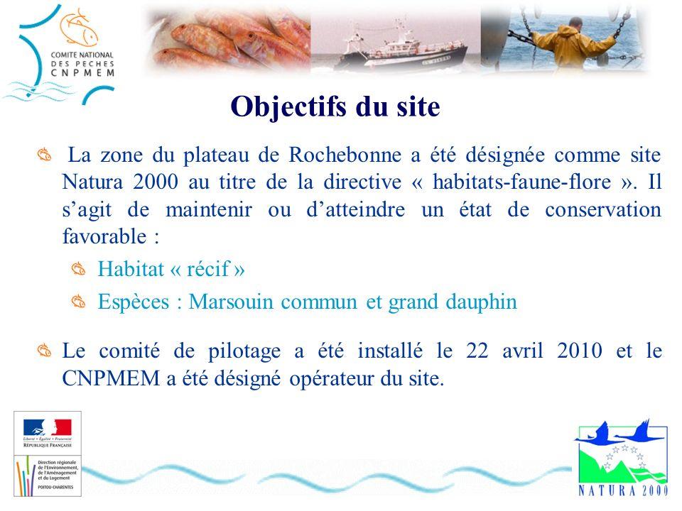 Objectifs du site La zone du plateau de Rochebonne a été désignée comme site Natura 2000 au titre de la directive « habitats-faune-flore ». Il sagit d