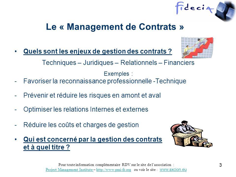 Pour toute information complémentaire RDV sur le site de lassociation : Project Management Institute Project Management Institute – http://www.pmi-fr.org ou voir le site : www.axcion.euhttp://www.pmi-fr.orgwww.axcion.eu 4 Informatique DG Finance Juridique Production R.H.