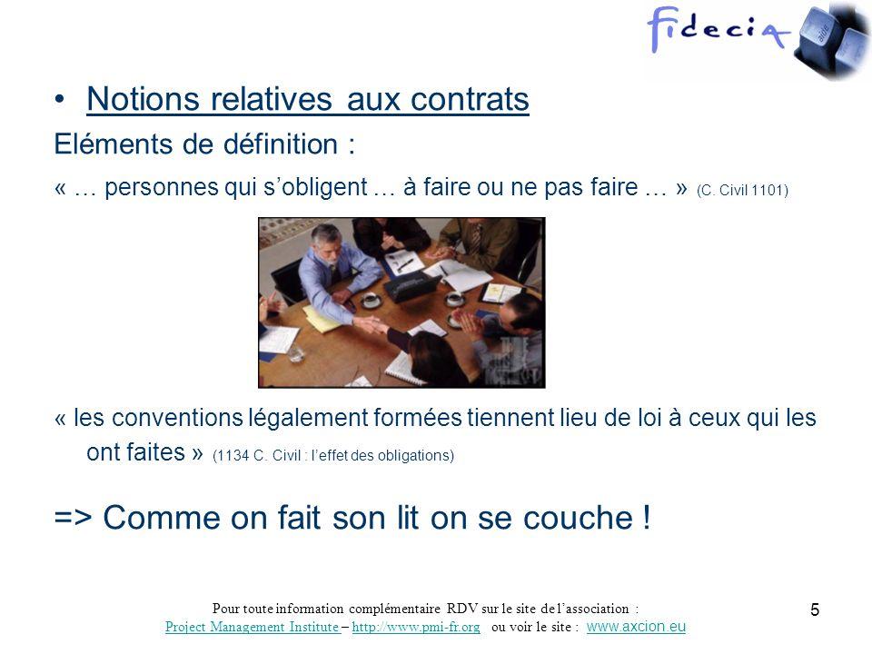 PMI-France-Sud R-A-oct06- exigences contract-D.Garret 6 Exigences = Contraintes mais de Performances .