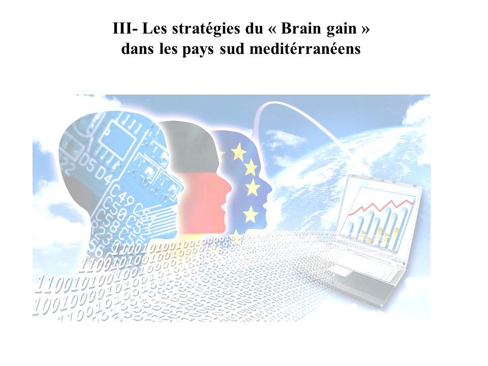 III- Les stratégies du « Brain gain » dans les pays sud meditérranéens