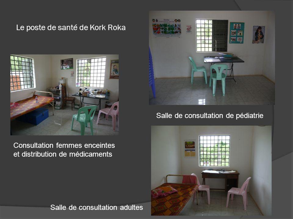 Le poste de santé de Kork Roka Salle de consultation de pédiatrie Consultation femmes enceintes et distribution de médicaments Salle de consultation a