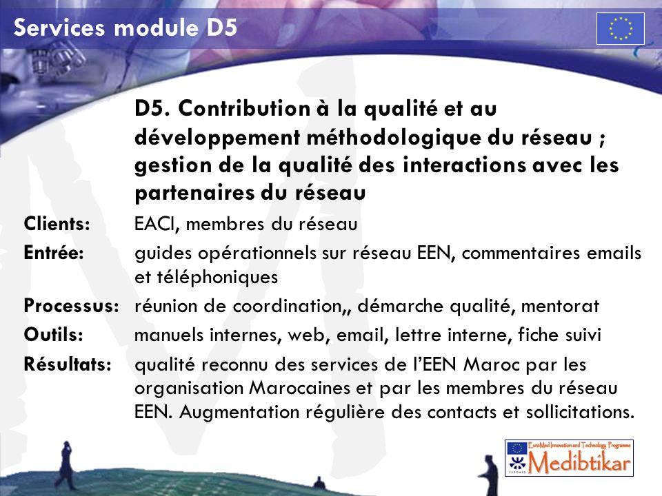 M Services module D5 D5.