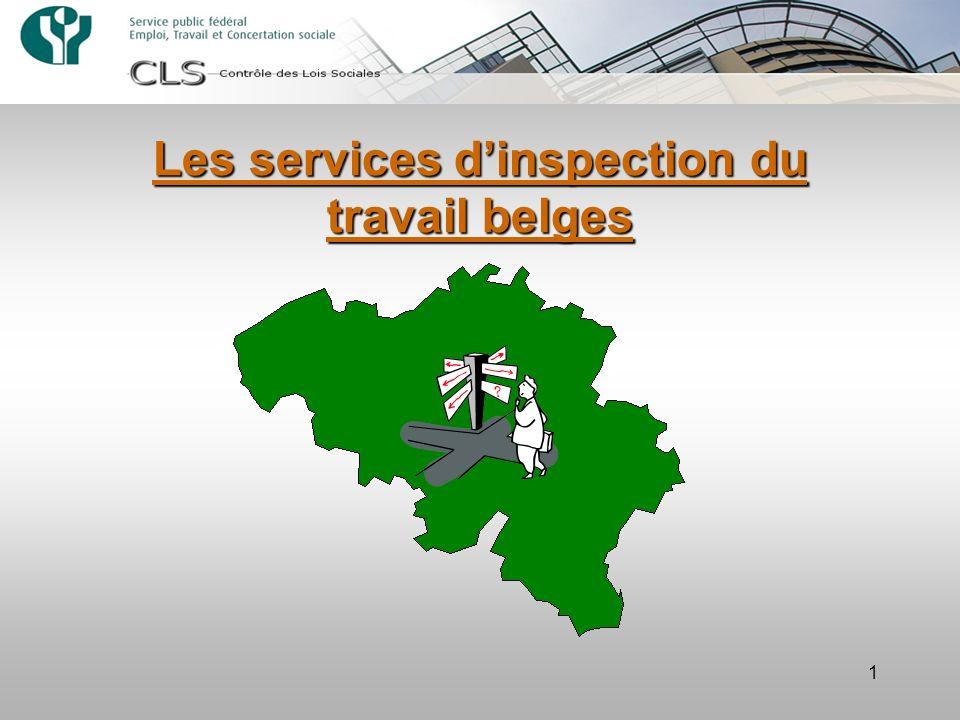 1 Les services dinspection du travail belges