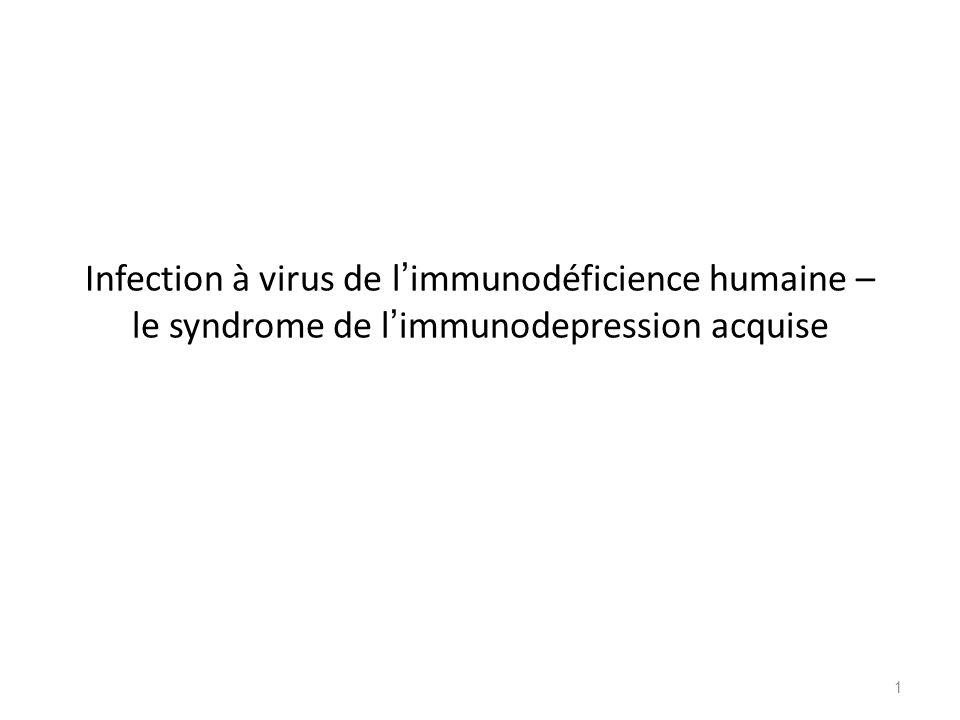 Infection à virus de l immunodéficience humaine – le syndrome de l immunodepression acquise 1