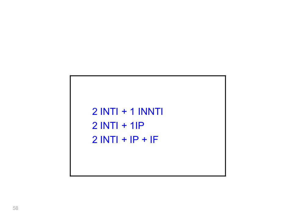 2 INTI + 1 INNTI 2 INTI + 1IP 2 INTI + IP + IF 58