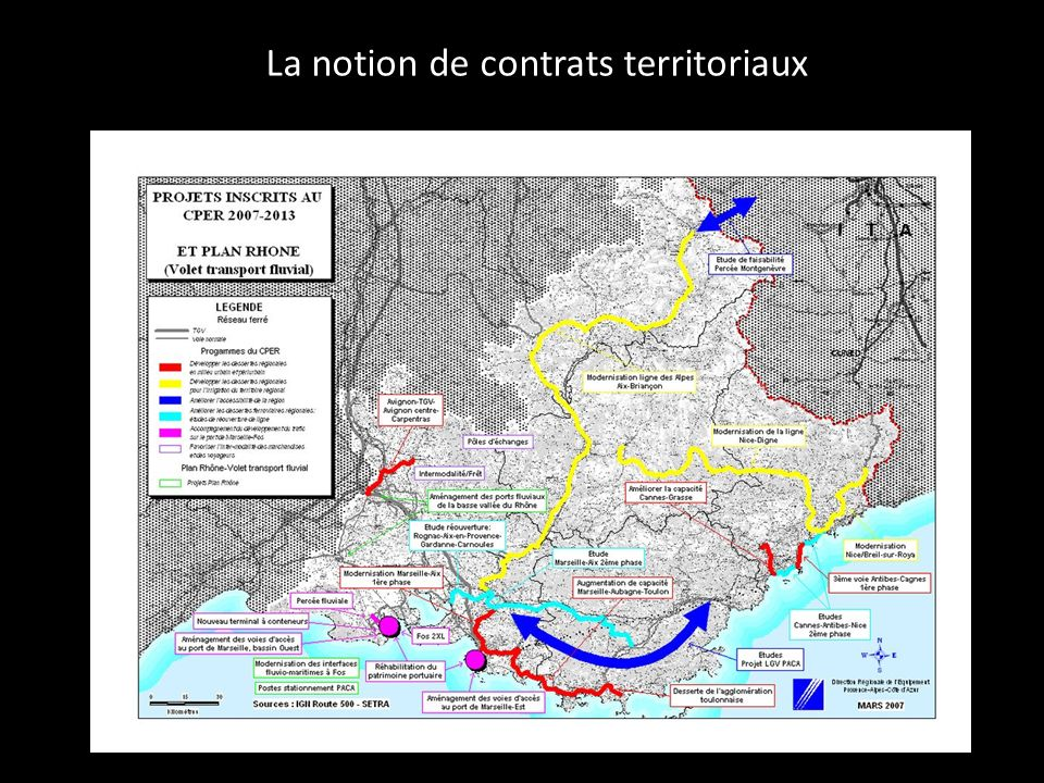 La notion de contrats territoriaux