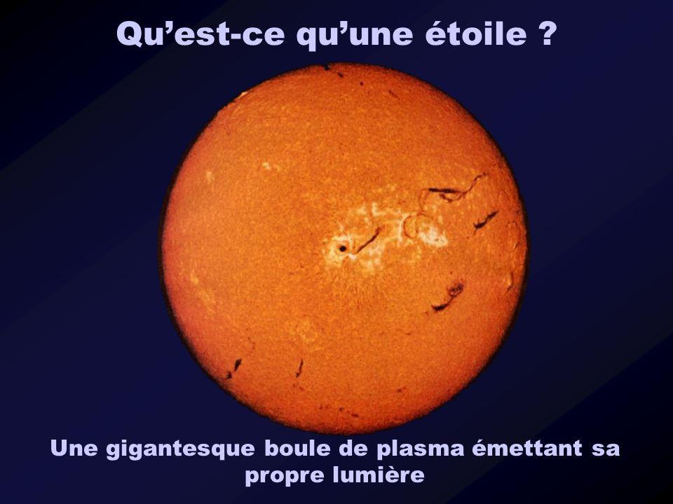 Quest-ce quune étoile ? Une gigantesque boule de plasma émettant sa propre lumière