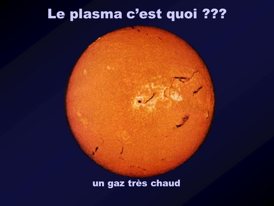 Le plasma cest quoi ??? un gaz très chaud