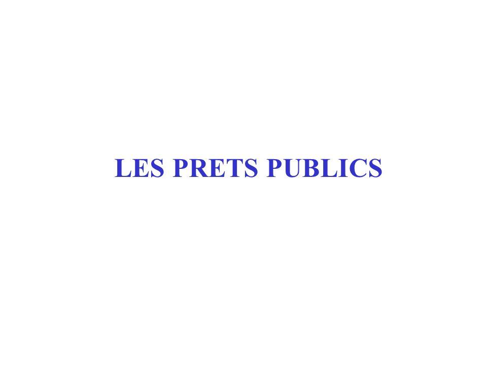 LES PRETS PUBLICS