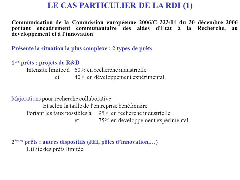 C- DES REGIMES SPECIFIQUES Au nombre de 2 : N677b/2007 Méthode de calcul de lélément daide pour les aides sous forme de garantie de prêts bancaires pour le financement d investissement des entreprises XA 25/2007 Programme pour linstallation et le développement des initiatives locales (PIDIL) pour la période 2007-2013