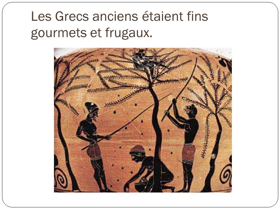 Les Grecs anciens étaient fins gourmets et frugaux.