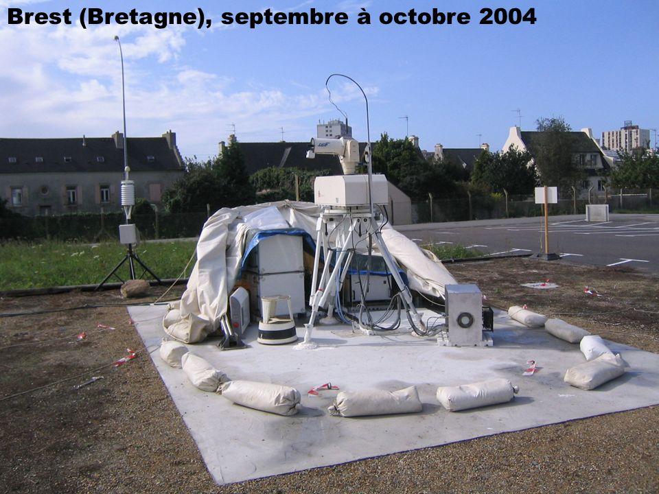 San Fernando (Espagne), juin 2004Chania (Crète), mars à octobre 2003 Ajaccio (Corse), janvier à septembre 2002 Brest (Bretagne), septembre à octobre 2
