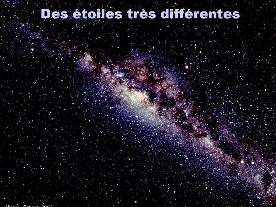 Des étoiles très différentes