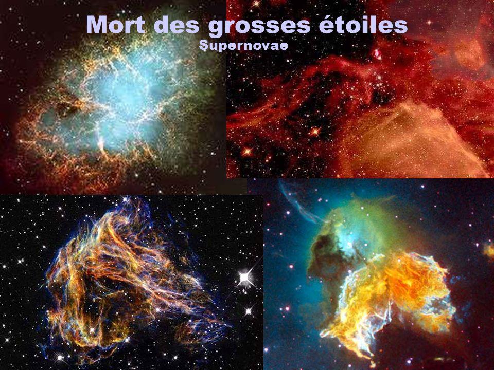 Mort des grosses étoiles Supernovae