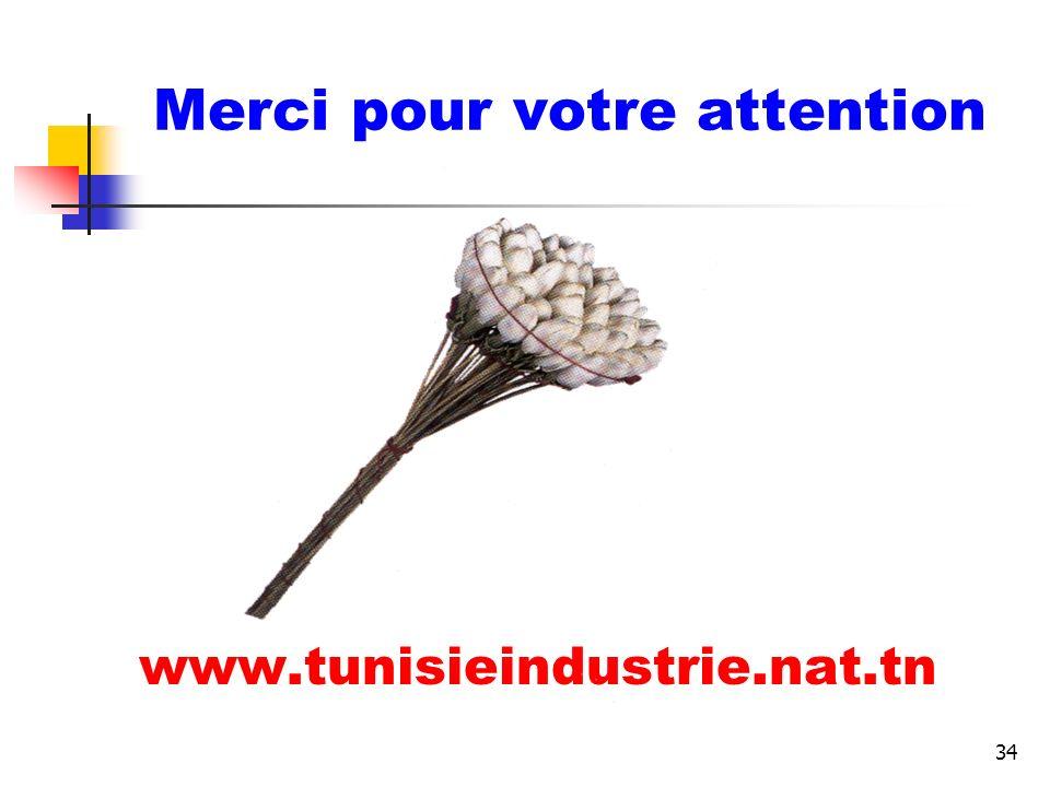 34 Merci pour votre attention www.tunisieindustrie.nat.tn