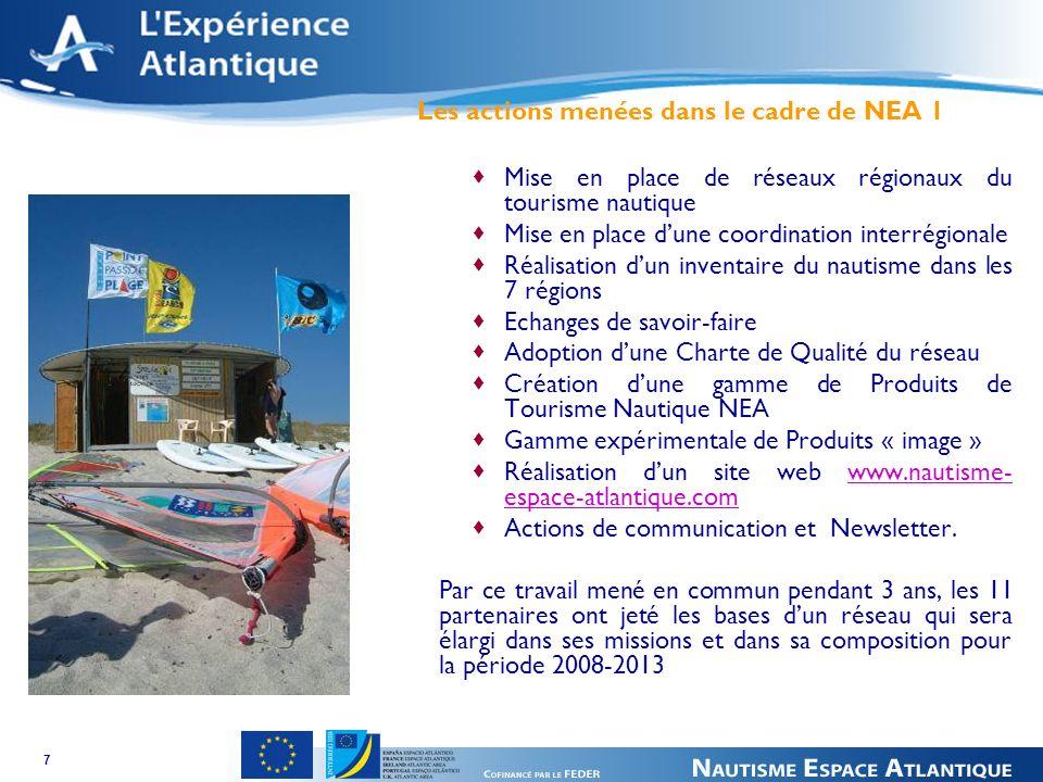 8 2008 - 2013 : NEA 2 Passer du développement des activités au développement durable de la filière nautique dans son ensemble : plaisance, activités encadrées et libres, industrie, commerce et services.