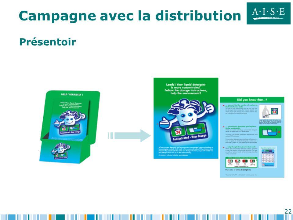 22 Présentoir Campagne avec la distribution