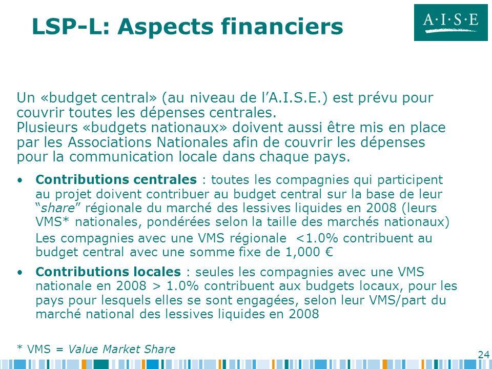 24 Un «budget central» (au niveau de lA.I.S.E.) est prévu pour couvrir toutes les dépenses centrales. Plusieurs «budgets nationaux» doivent aussi être
