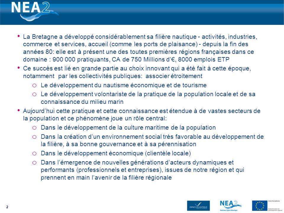 La Bretagne a développé considérablement sa filière nautique - activités, industries, commerce et services, accueil (comme les ports de plaisance) - d