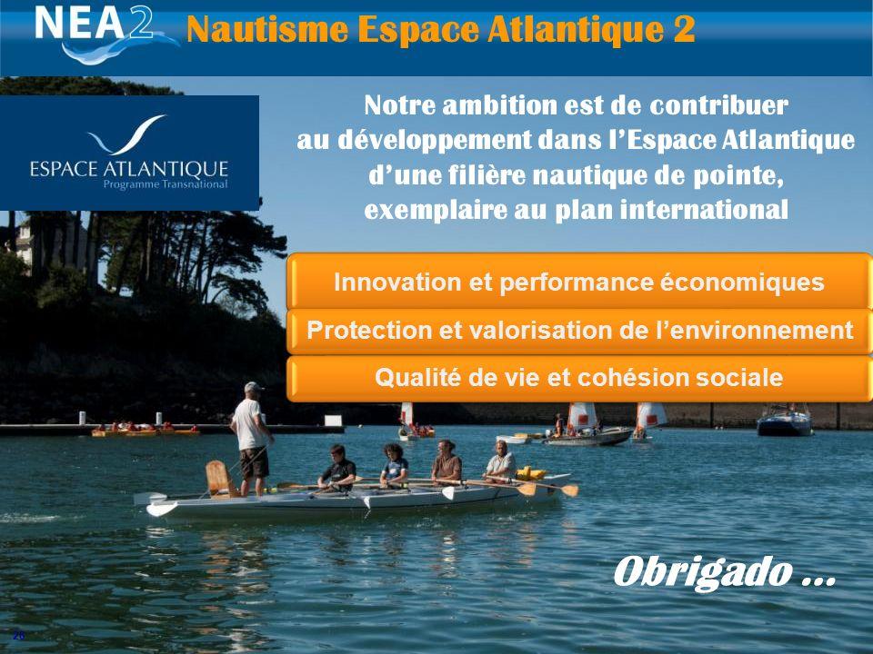 26 Innovation et performance économiques Protection et valorisation de lenvironnementQualité de vie et cohésion sociale Nautisme Espace Atlantique 2 N