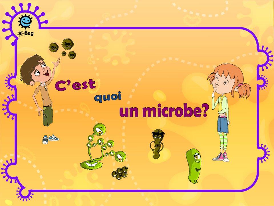 Les microbes sont des organismes vivants Ils sont tellement petits quil faut un microscope pour les voir Il en existe de différentes formes et de différentes tailles On en trouve PARTOUT .