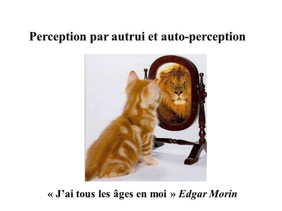 Perception par autrui et auto-perception « Jai tous les âges en moi » Edgar Morin