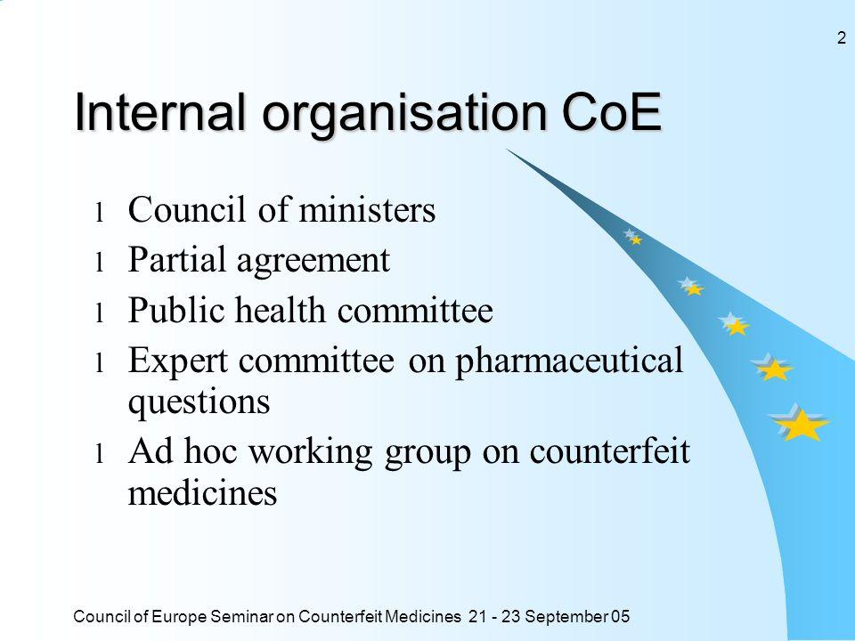 Council of Europe Seminar on Counterfeit Medicines 21 - 23 September 05 13 Possibilités dannoncer les contrefaçons : 3.