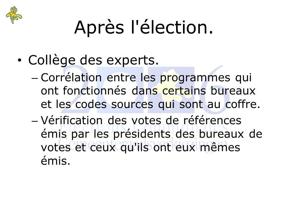 Collège des experts.