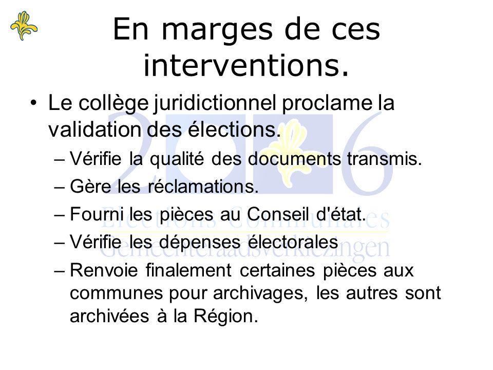Le collège juridictionnel proclame la validation des élections.