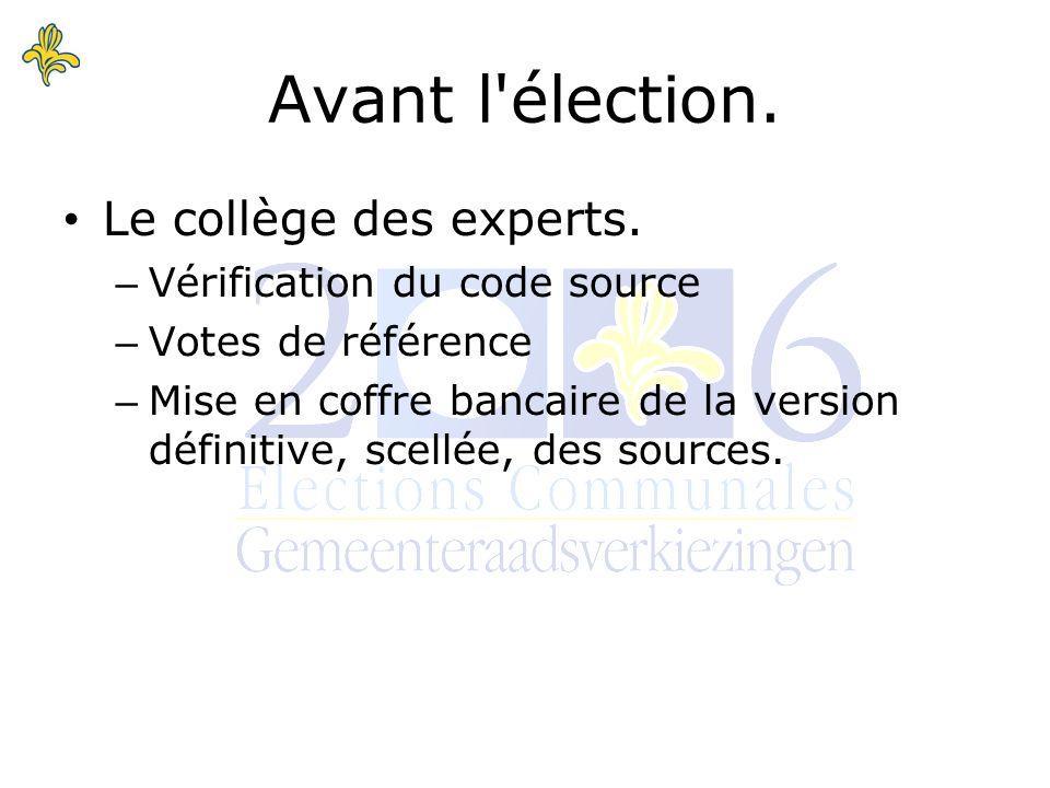 Le collège des experts.