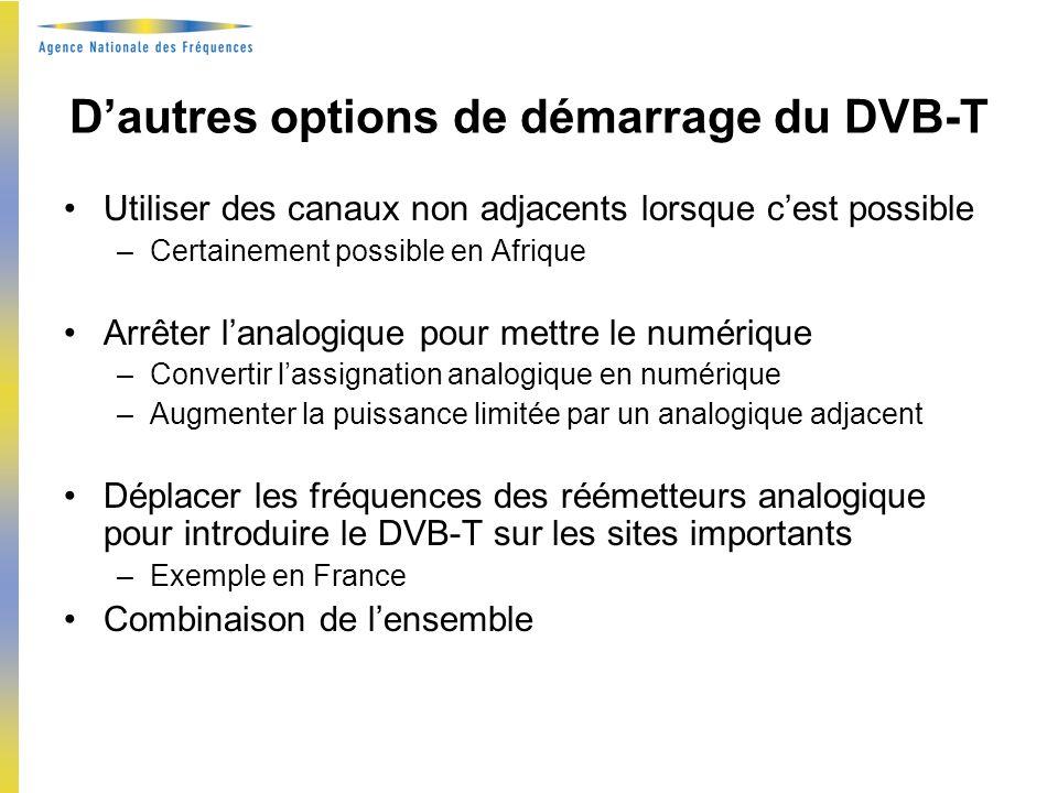 Exemple en France : 49 réaméagements / 32 émetteurs