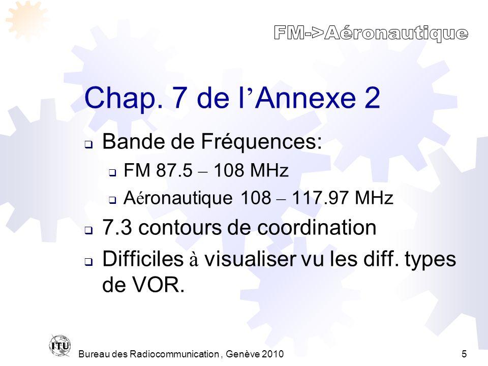 Bureau des Radiocommunication, Genève 20105 Chap.