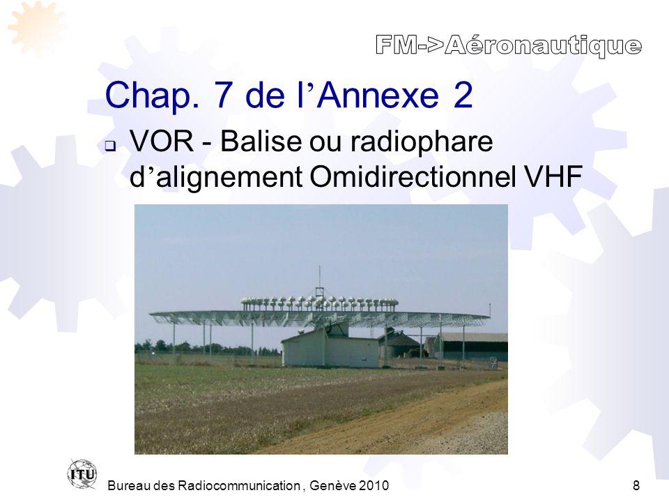 Bureau des Radiocommunication, Genève 20108 Chap.