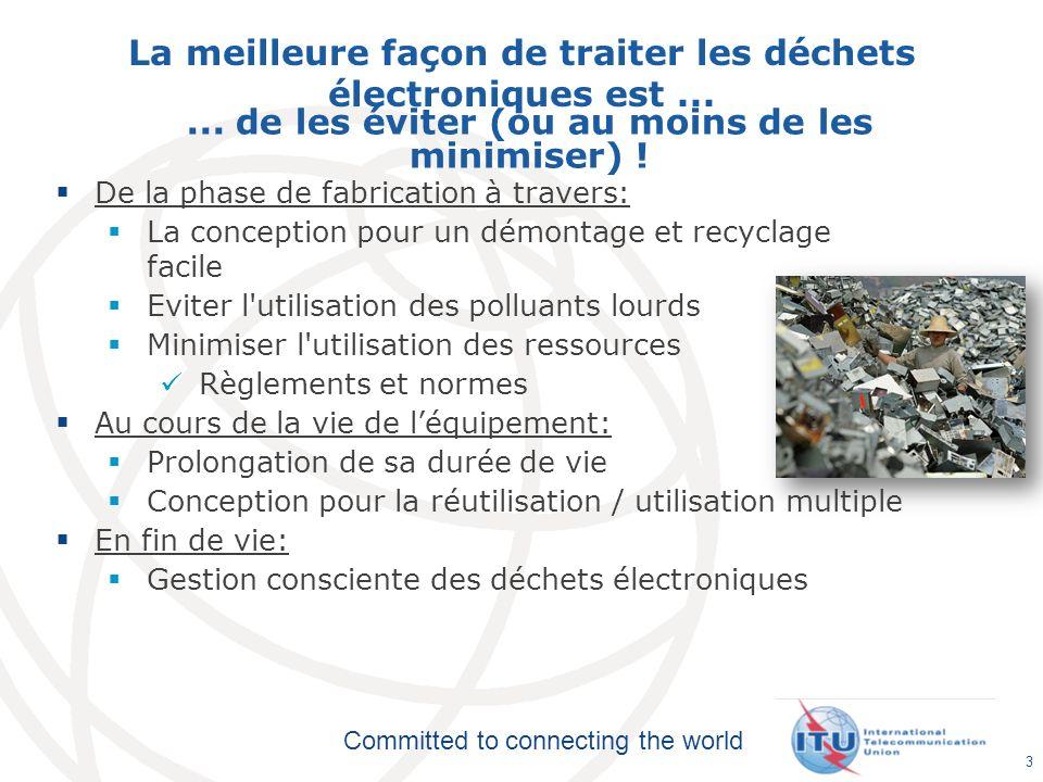 Committed to connecting the world La meilleure façon de traiter les déchets électroniques est...