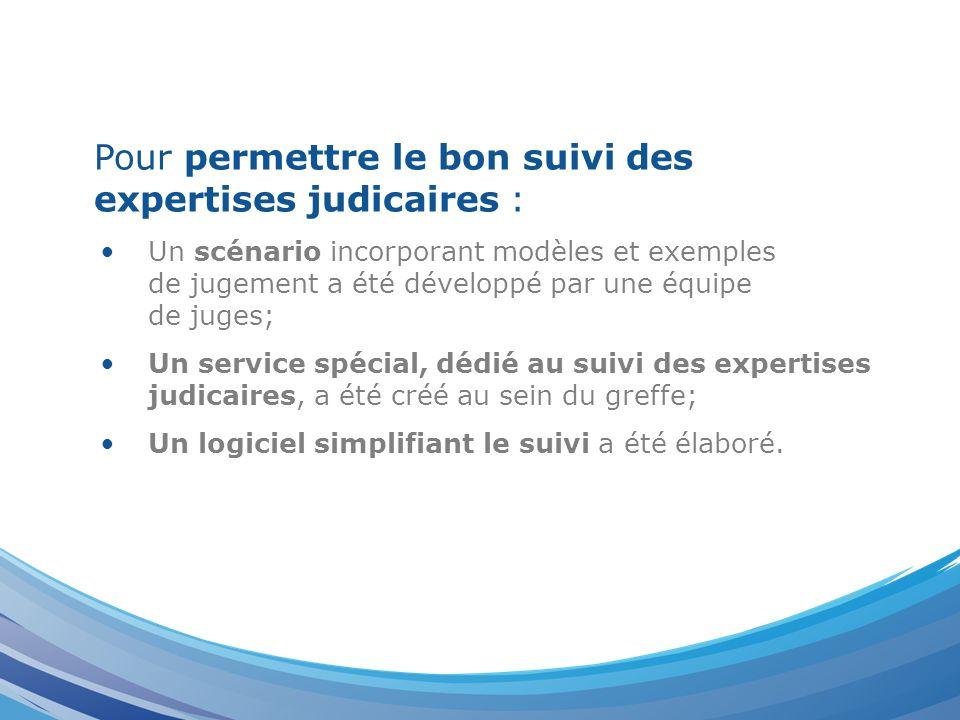Le Service de Suivi des Expertises (SSE) est composé : Dun Juge, en charge du contrôle des expertises; Dun Greffier, apportant son assistance au Juge; De deux membres du personnel du greffe civil.
