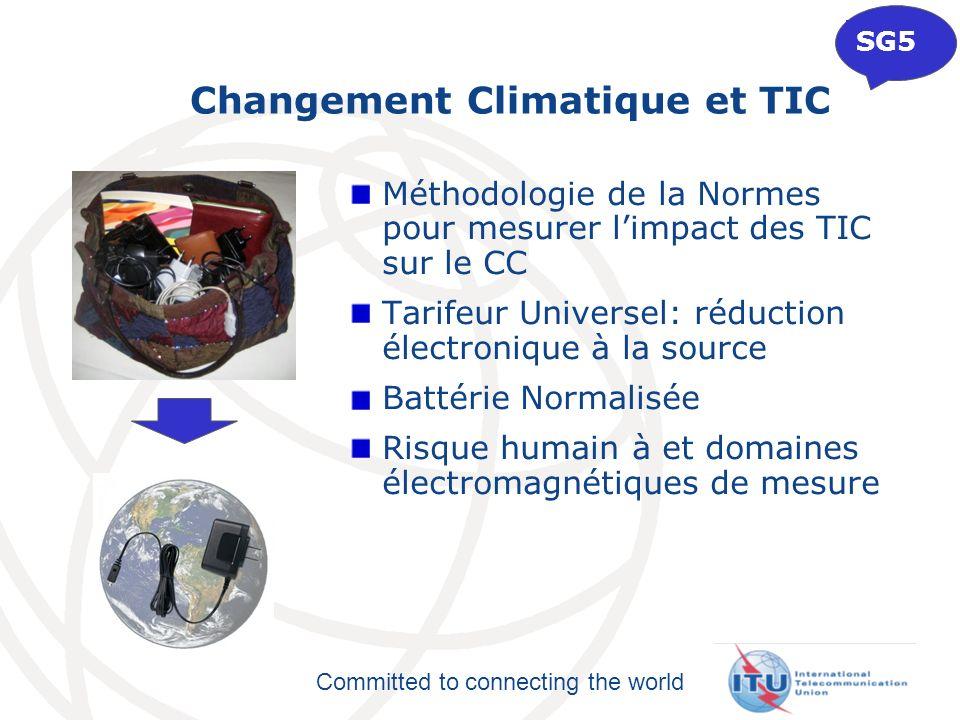 Committed to connecting the world Méthodologie de la Normes pour mesurer limpact des TIC sur le CC Tarifeur Universel: réduction électronique à la sou