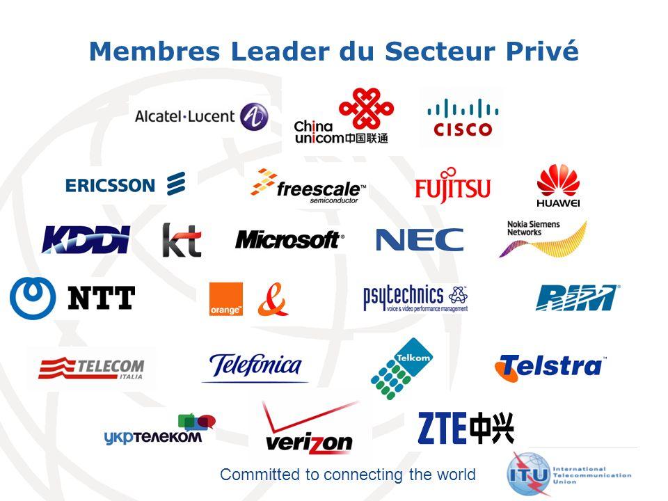 Committed to connecting the world Réseau des Ecoles Membres de lUIT 41 universités dans 27 pays